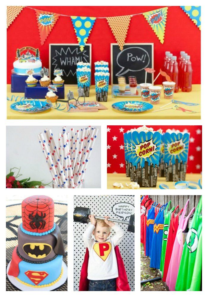 un anniversaire comics digne des plus grands super h ros le blog de modern confetti. Black Bedroom Furniture Sets. Home Design Ideas