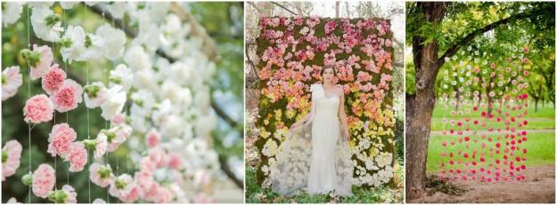 Un backdrop fleuri pour un mariage champêtre, rétro, vintage et nature