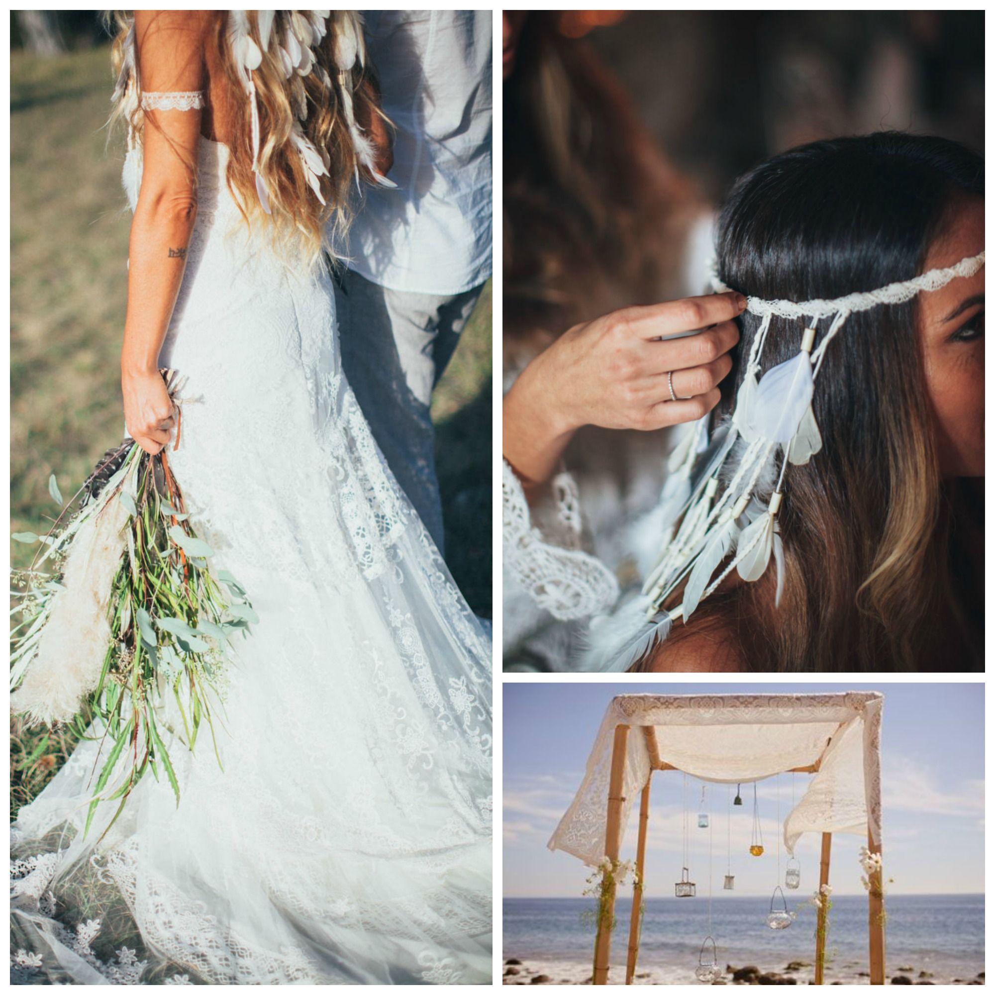 Idée déco : Mariage hippie Chic - Le blog de Modern Confetti