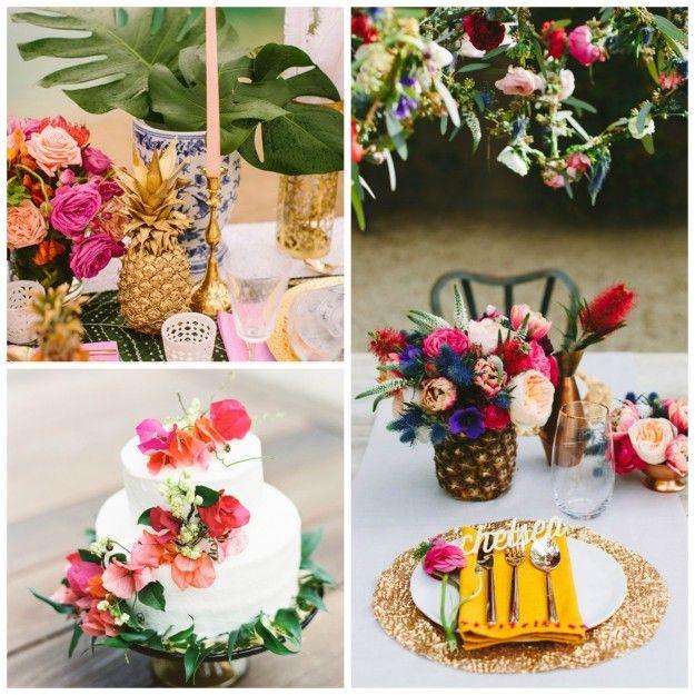 id es d co pour un mariage tropical le blog de modern confetti. Black Bedroom Furniture Sets. Home Design Ideas