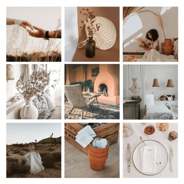 page d'ambiance mariage minimaliste d'été