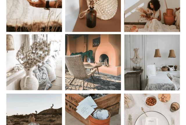page d'ambiance été et minimalisme