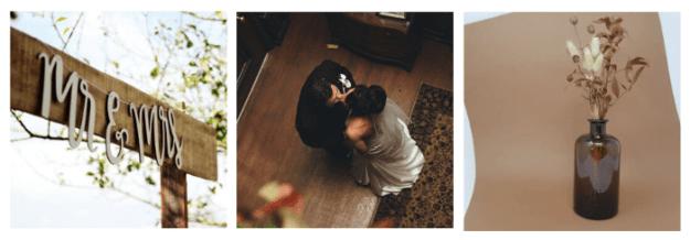 thème mariage brun