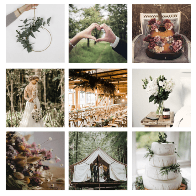 page d'ambiance mariage naturel