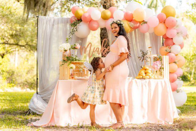 photo future maman baby shower